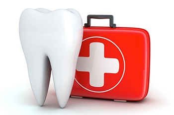 First-aid kit used by a pediatric dental emergency dentist in Castle Rock