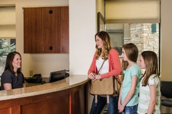 Front desk at Castle Rock Smiles Pediatric Dentistry